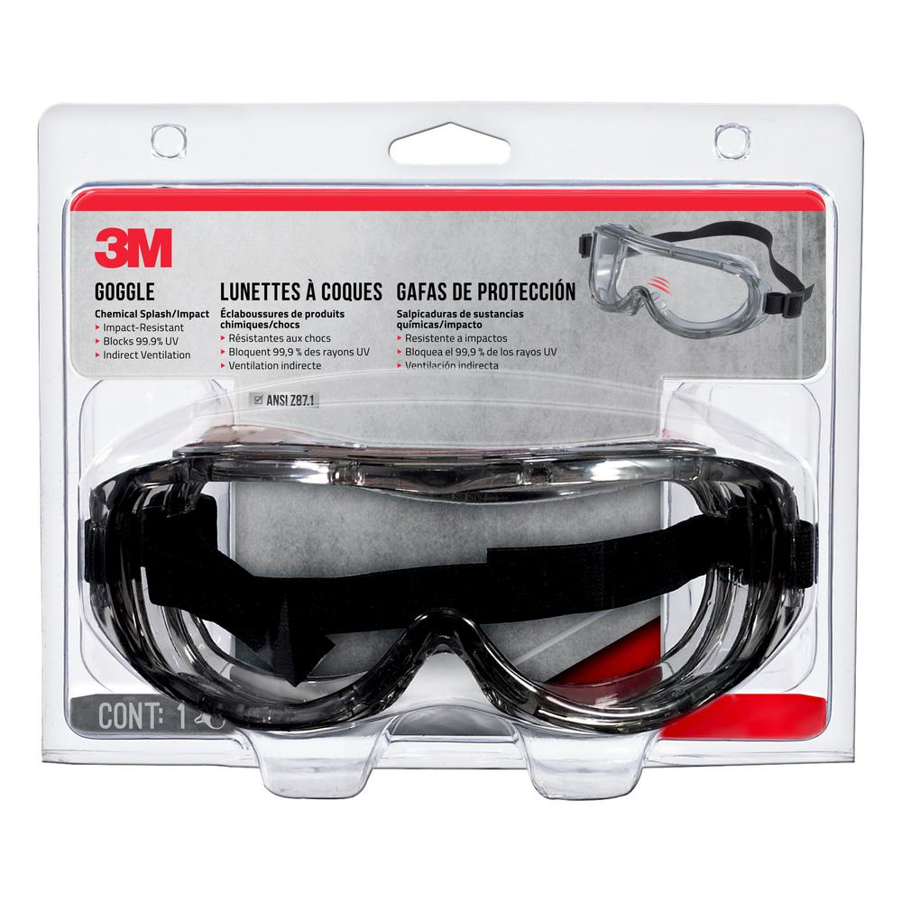 1b85572f65a7 3M Professional Chemical Splash Impact Safety Goggles-91264-80025 ...