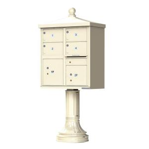 Florence 1570 Series 4 Large Mailboxes, 1 Outgoing, 2 Parcel Lockers, Vital Cluster Mailbox with Vogue... by Florence