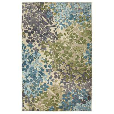Aurora Radiance Aqua 7 ft. 6 in. x 7 ft. 6 in. Square Rug