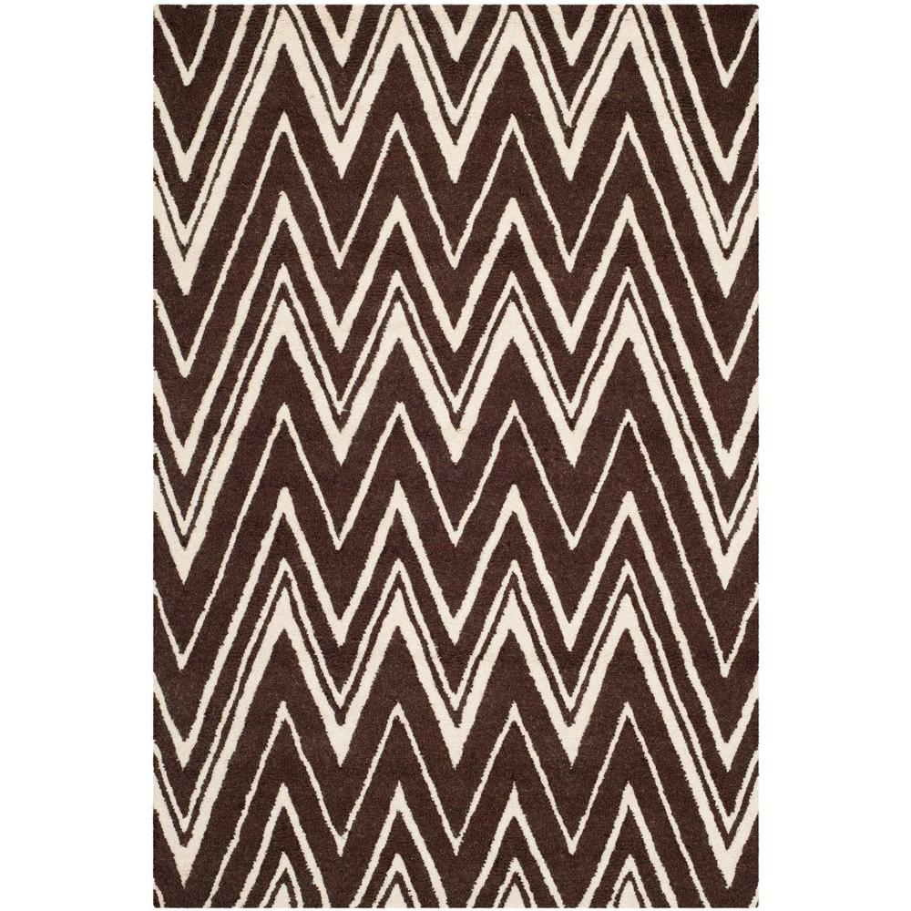 Cambridge Brown/Ivory 5 ft. x 8 ft. Area Rug