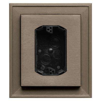 7 in. x 8 in. #095 Clay Electrical Mounting Block