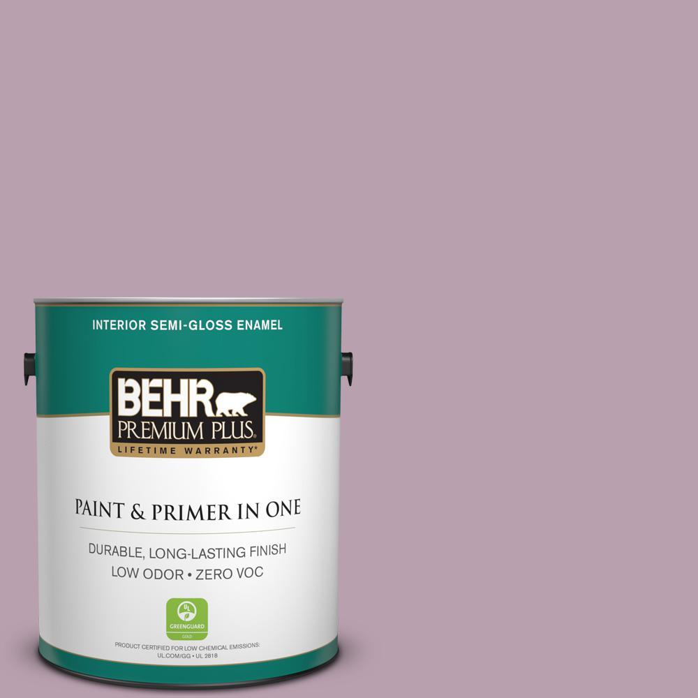 BEHR Premium Plus 1-gal. #S110-4 Highland Thistle Semi-Gloss Enamel Interior Paint