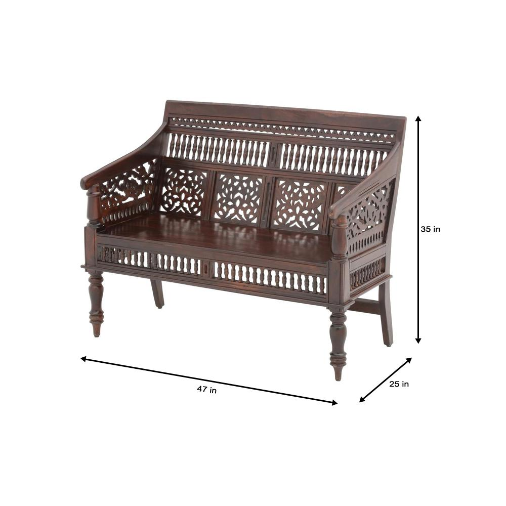 Home Decorators Collection Maharaja Walnut Bench 0652000960