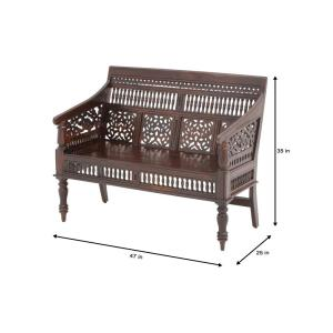 Outstanding Home Decorators Collection Maharaja Walnut Bench 0652000960 Creativecarmelina Interior Chair Design Creativecarmelinacom