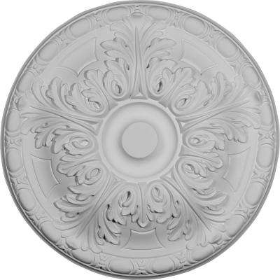 15-3/4 in. OD x 5/8 in. P (Fits Canopies up to 4-1/4 in.) Granada Ceiling Medallion