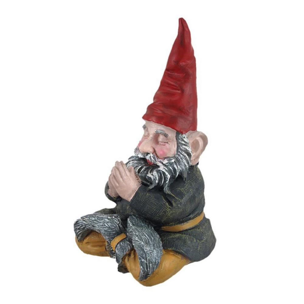 11 in. H Meditating ZEN ''Mordecai'' the Yoga Garden Gnome Figurine Statue