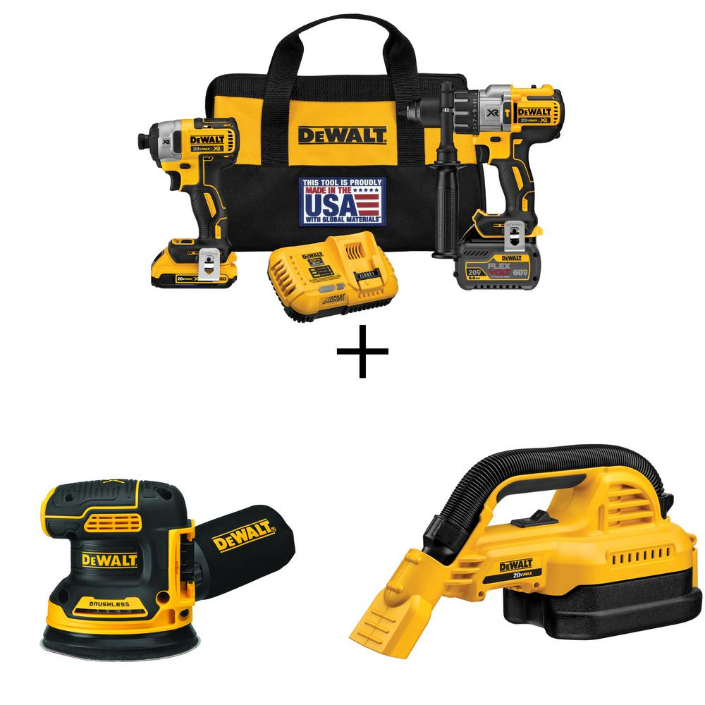 Dewalt 20 Volt Max Lithium Ion Cordless Brushless Combo