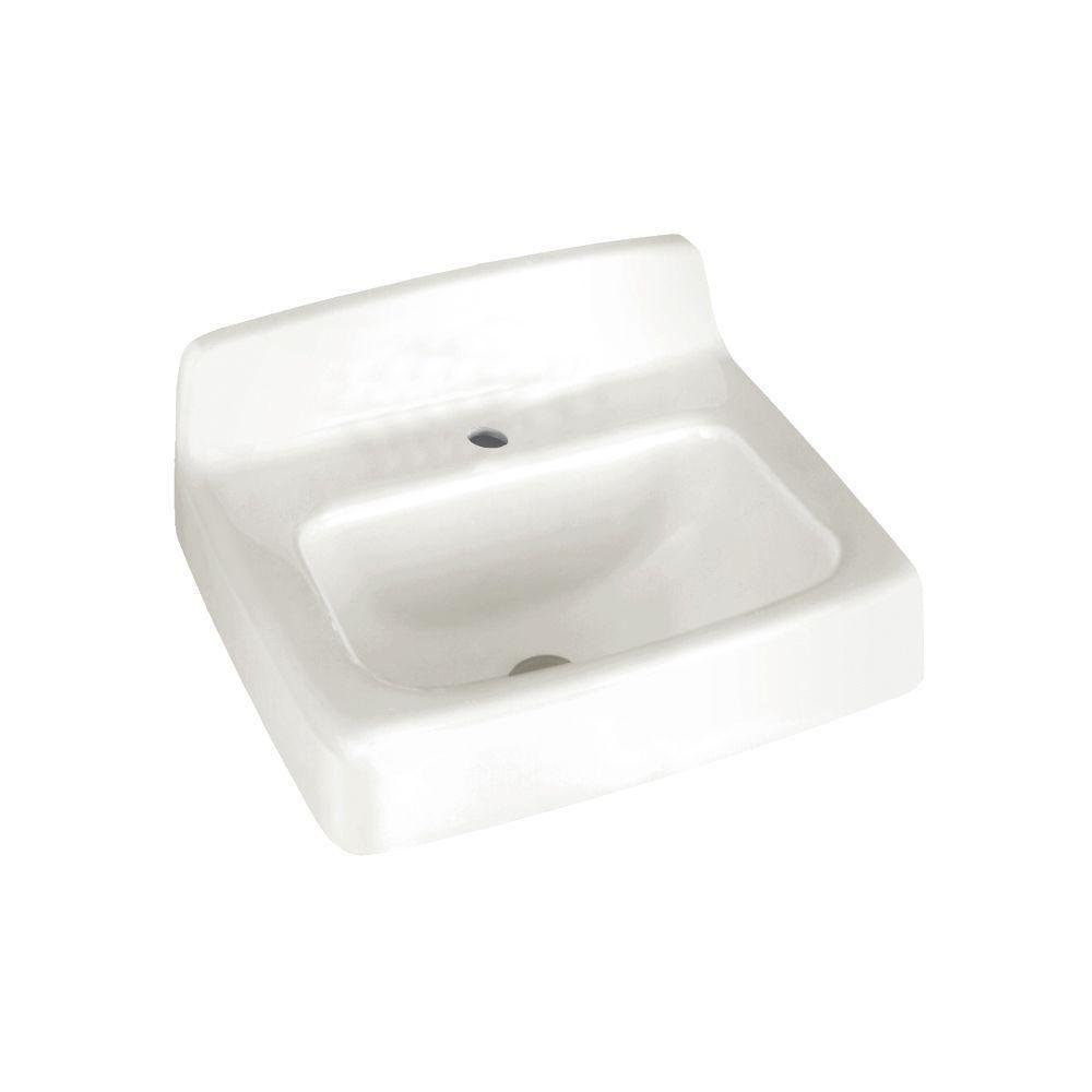 Regalyn Wall-Mounted Bathroom Sink in White
