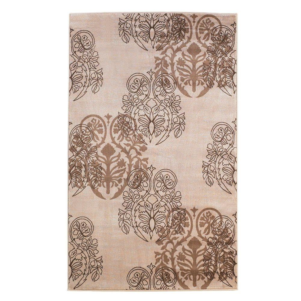 Linon Home Decor Milan Collection Ivory And Brown 8 Ft X 10 Ft 3 In Indoor Area Rug Rug