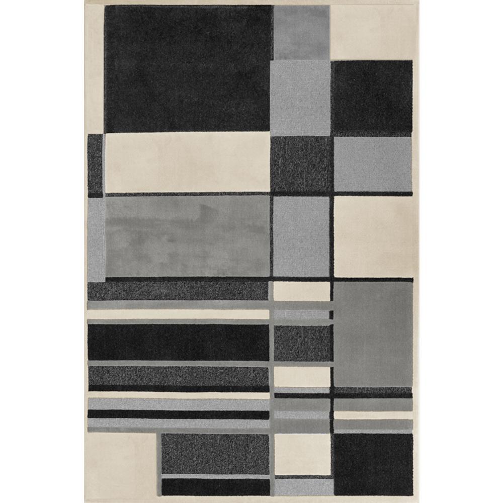 Carpet Art Deco Landmark Geo Linen Grey 8 Ft X 10 Area Rug