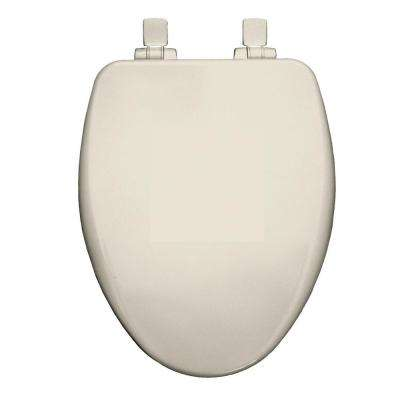 Elongated Closed Front Toilet Seat in Biscuit