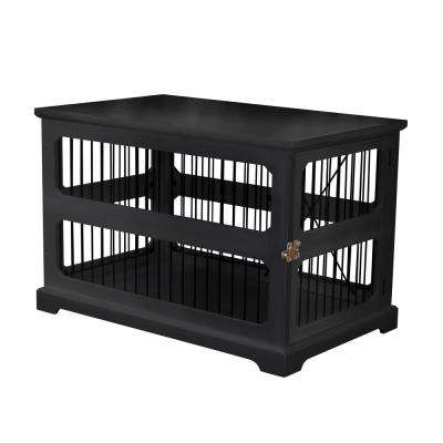 Dog Crate in Black with Slide Aside Door - Medium