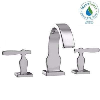 Aimes 8 in. Widespread 2-Handle Bathroom Faucet in Polished Chrome