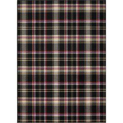 Grafix Black 7 ft. 10 in. x 9 ft. 10 in. Area Rug