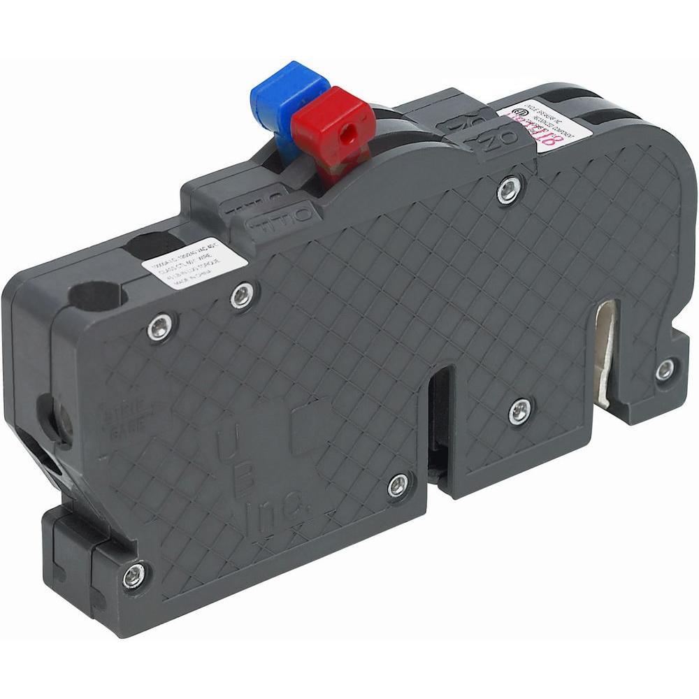 New VPKUBIZ Thin 15/20 Amp 3/4 in. 1-Pole Zinsco Twin R381520 Replacement Circuit Breaker