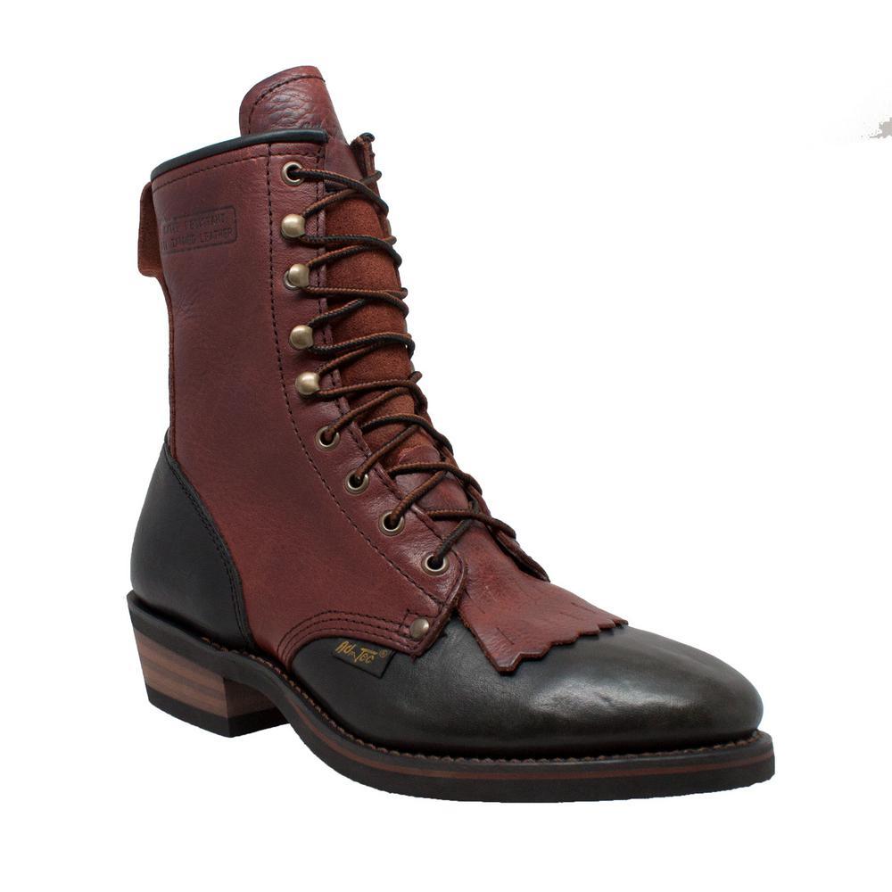 Men's Medium 9 Redwood Full-Grain Leather Steel Toe Farm Boots