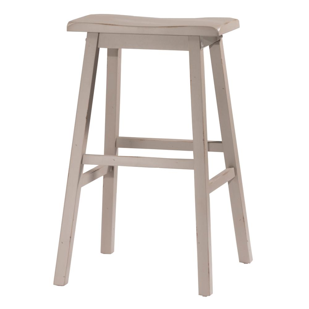 Hillsdale furniture moreno distressed gray non swivel backless counter stool