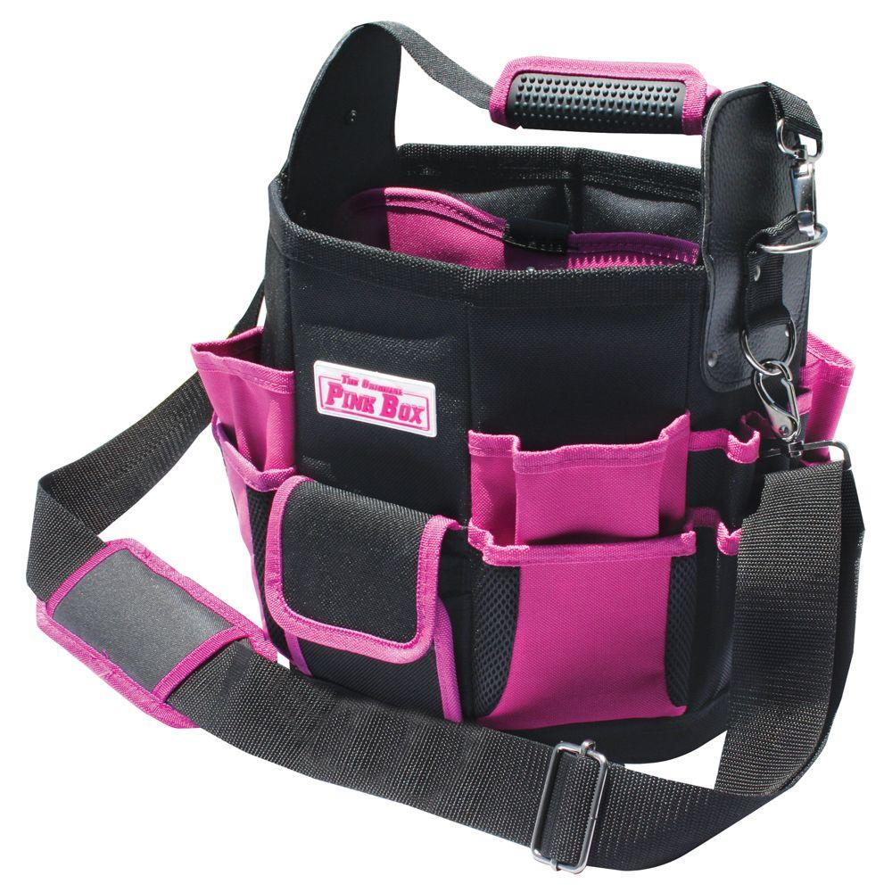 The Original Pink Box 11 in. Tote Bag with Changeable Tool Wall in Pink