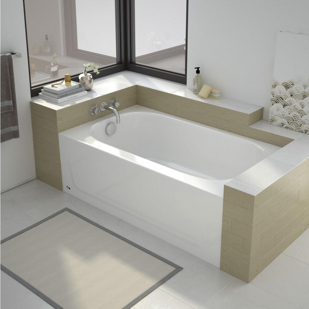 Bootz Industries Kona 54 In Left Drain Rectangular Alcove Soaking Bathtub White