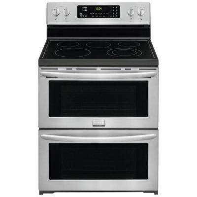 7.0 cu. ft. Freestanding Electric Range with Symmetry Double Ovens in SmudgeProof Stainless Steel