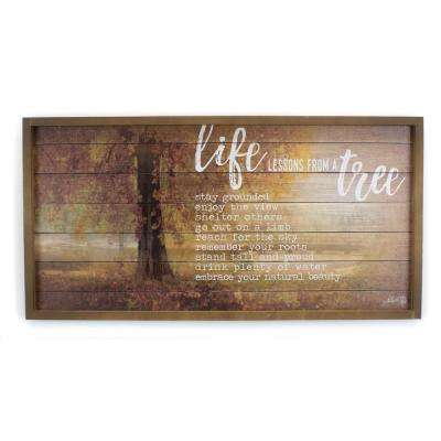 "24.5 In. W x 12.5 In.H ""Life Lessons"" by Penny Lane Framed Printed Wall Art"