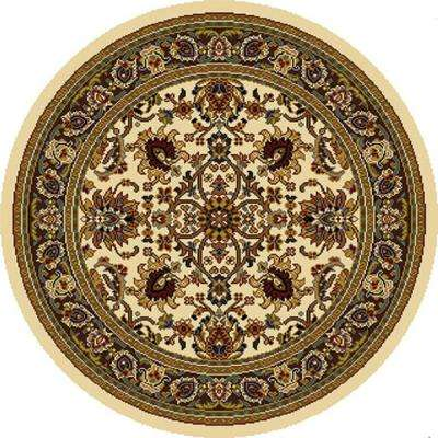 Royalty Ivory 8 Ft X Round Indoor Area Rug