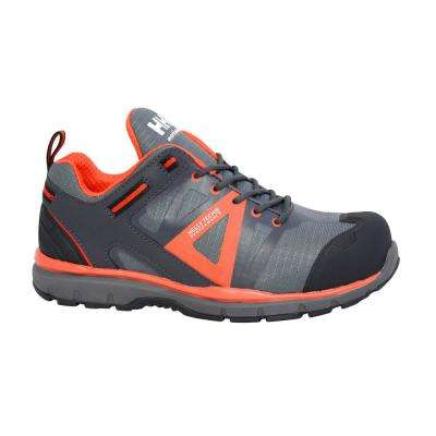 Active Low Men Size 10 Black/Orange Nylon/Leather Composite Toe Waterproof Work Shoe