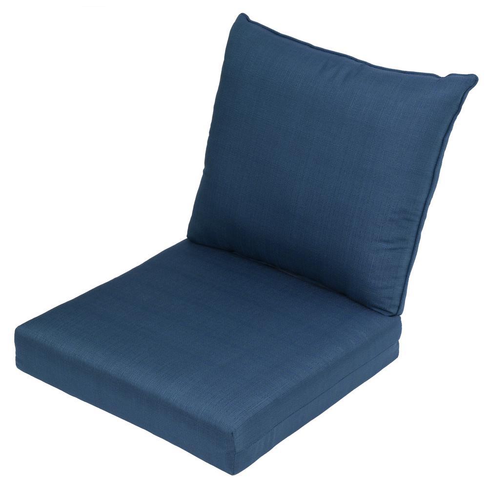 CushionGuard Charleston 2-Piece Deep Seating Outdoor Lounge Chair Cushion