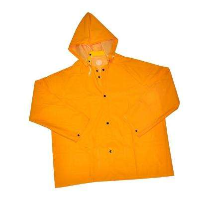35 mm Large Heavy Weight PVC Over Polyester Rain Jacket