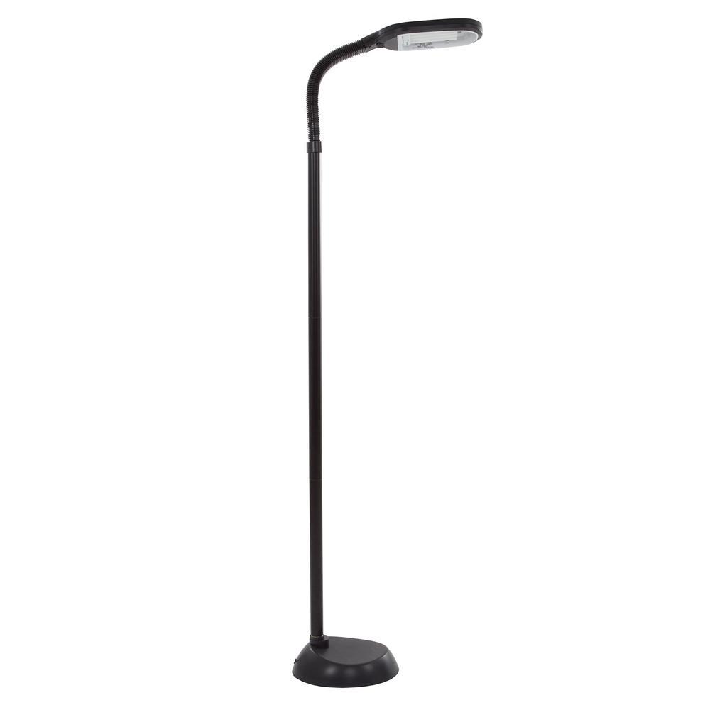 Lavish Home Deluxe Sunlight 55 in. Black Floor Lamp