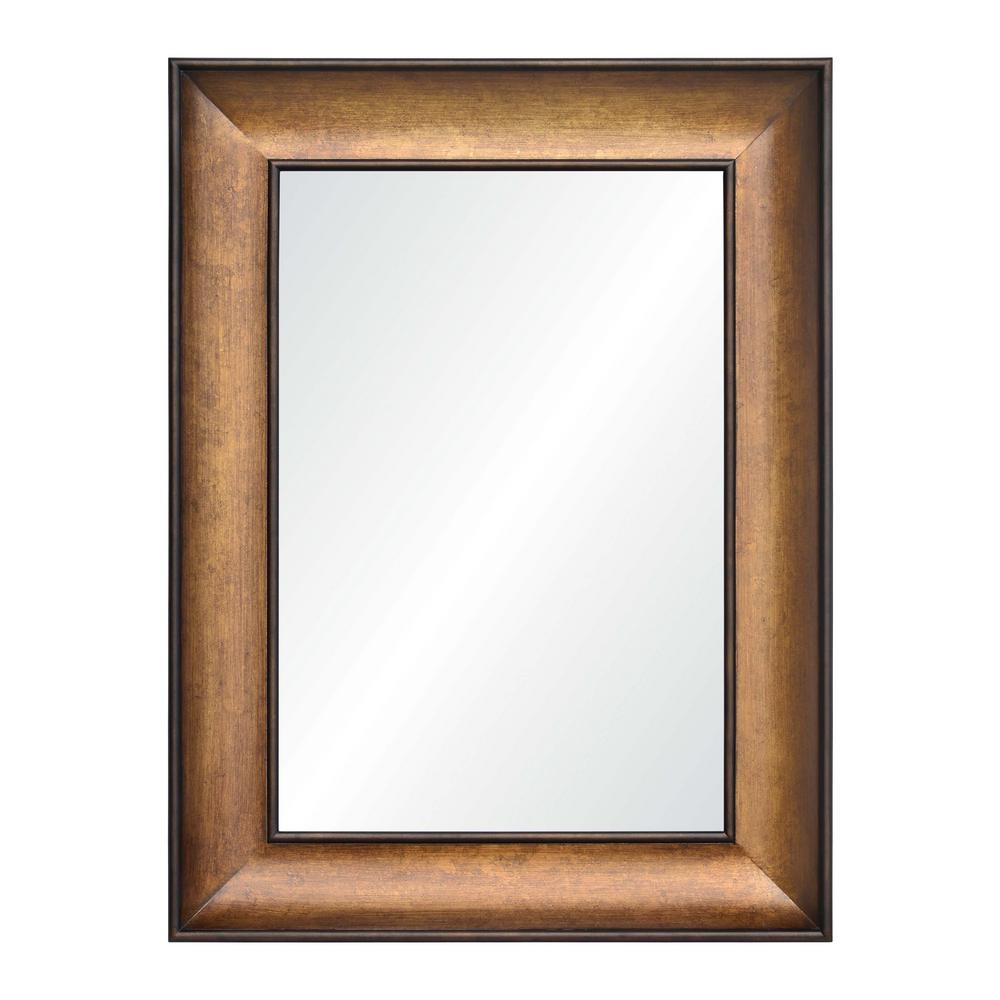 Atman 40 in. x 30 in. Framed Wall Mirror