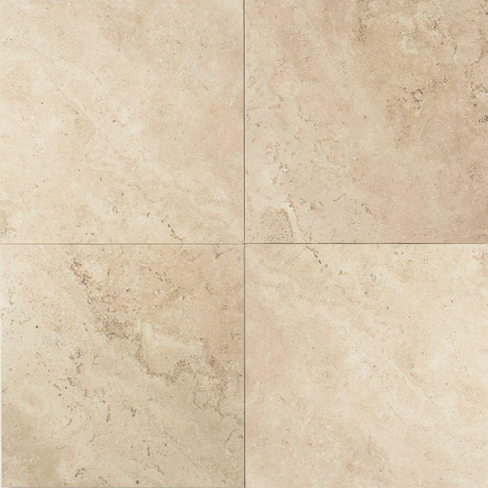 Daltile Travertine Baja Cream 12 in. x 12 in. Natural Stone Floor ...