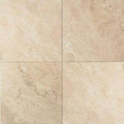Travertine Baja Cream 12 In X Natural Stone Floor And Wall Tile