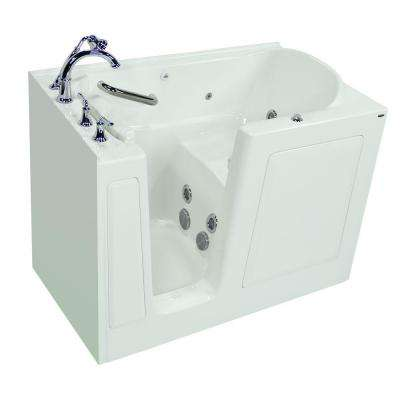 Exclusive Series 51 in. x 31 in. Walk-In Whirlpool Tub with Quick Drain in White