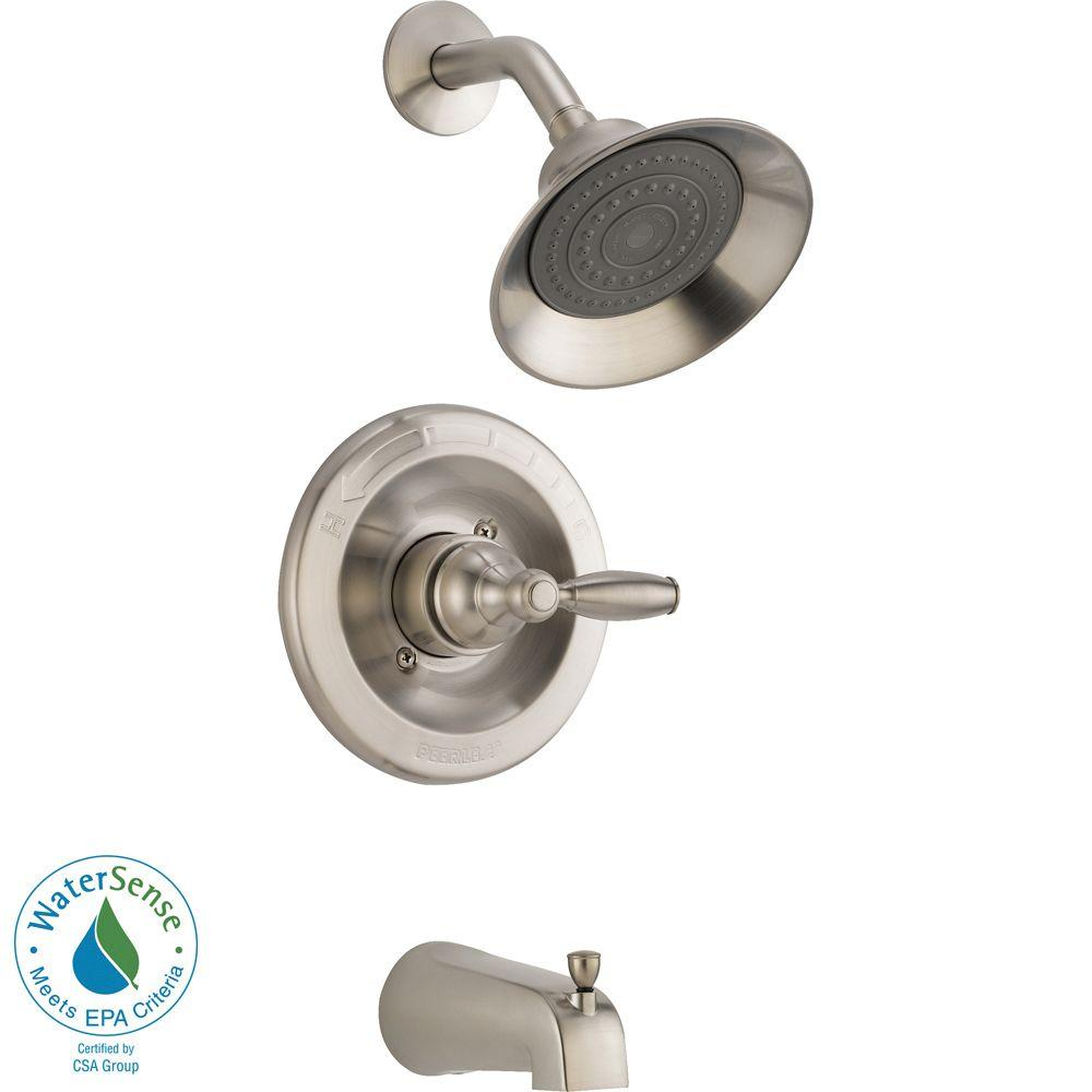Single-Handle Tub and Shower Faucet Trim Kit Durable in Brushed ...