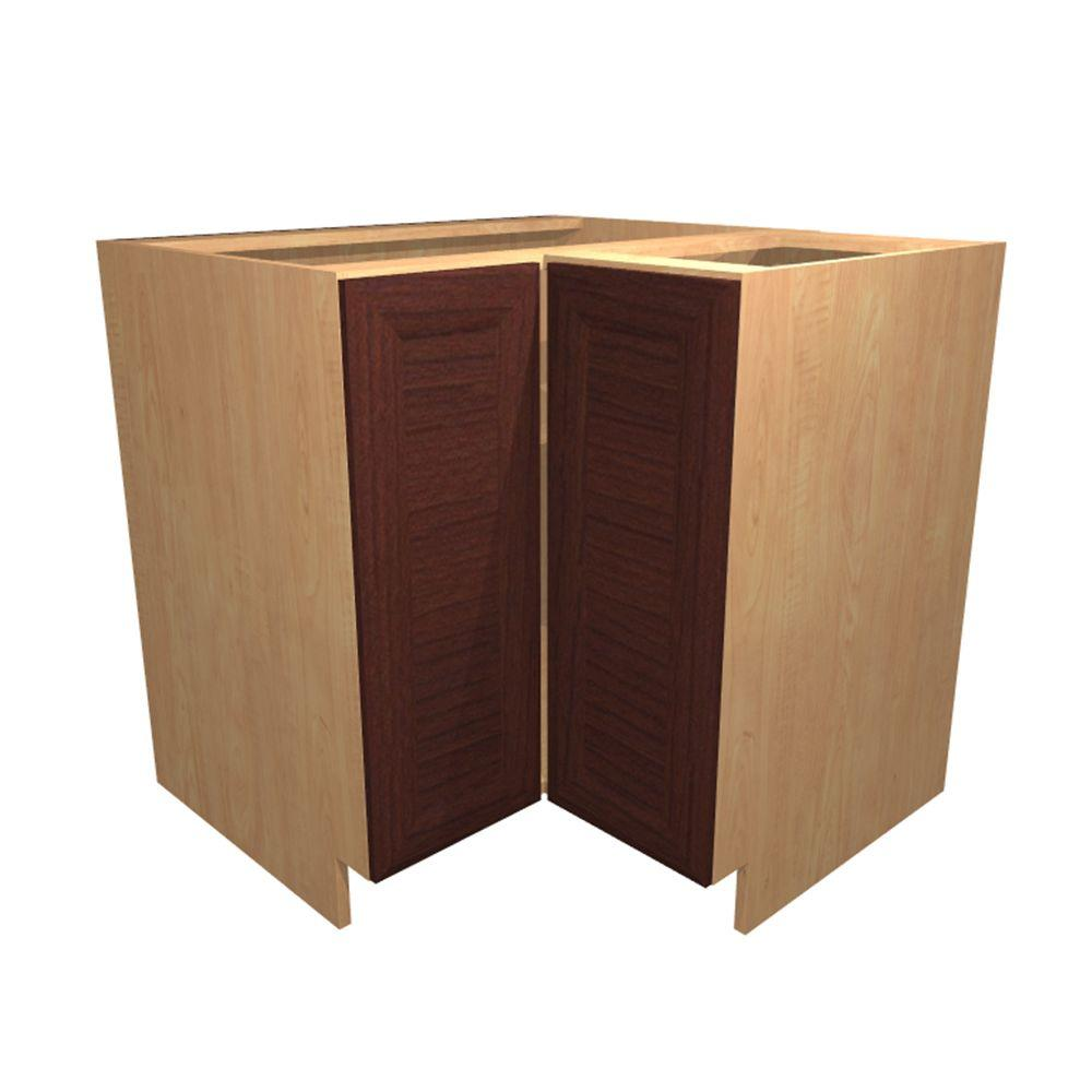 Home Decorators Collection 36x34.5x24 In. Dolomiti Easy Reach Base Corner  Cabinet With 2