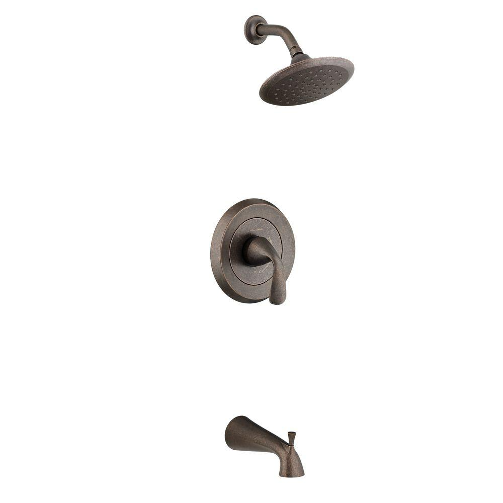 American Standard Fluent 1-Handle Tub and Shower Faucet Trim Kit in ...