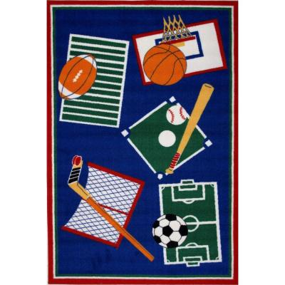 Fun Time Sports A Rama Multi Colored 3 ft. x 5 ft. Area Rug