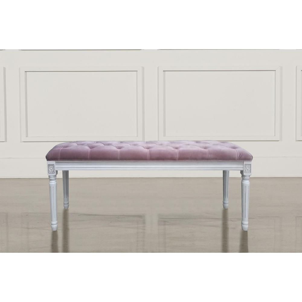 Christie's XL Rose Quartz Velvet French Bench