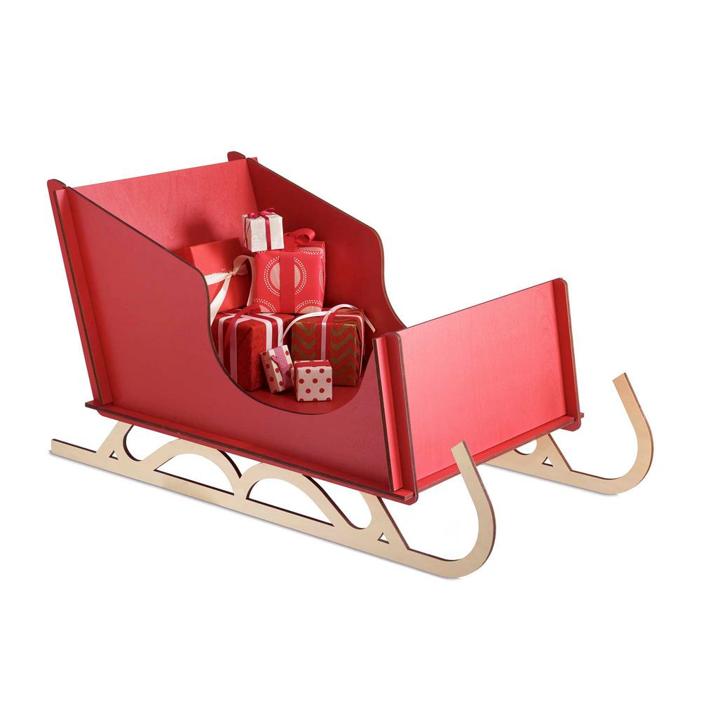 christmas alpine sleigh decoration