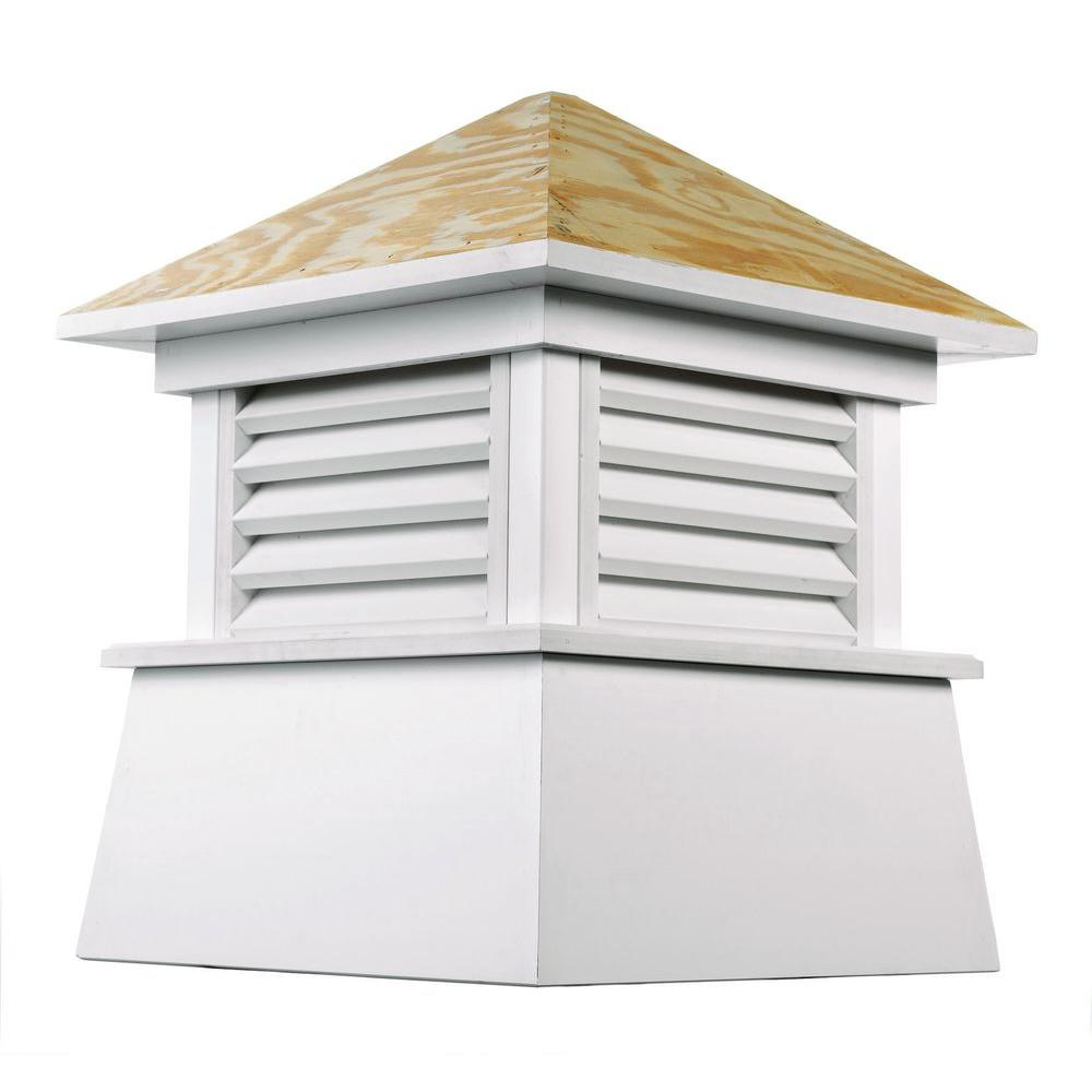 Kent 22 in. x 27 in. Vinyl Cupola with Wood Roof