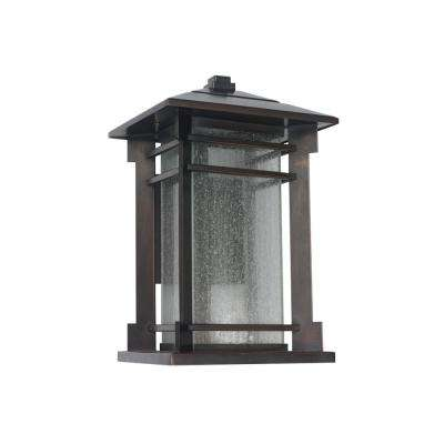 Missioncraftsman outdoor wall mounted lighting outdoor lighting 1 light oil rubbed bronze outdoor integrated led large wall mount lantern workwithnaturefo