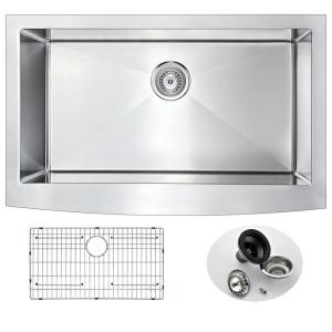 ANZZI ELYSIAN Series Farmhouse Stainless Steel 36 inch 0-Hole Single Bowl Kitchen Sink by ANZZI