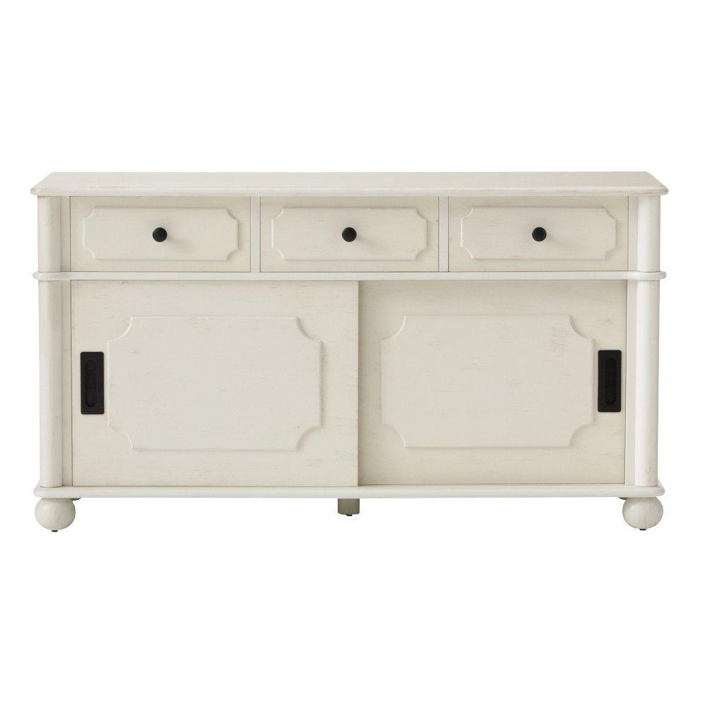Home Decorators Collection Essex 42 in. W Shoe Storage Cabinet in Cream