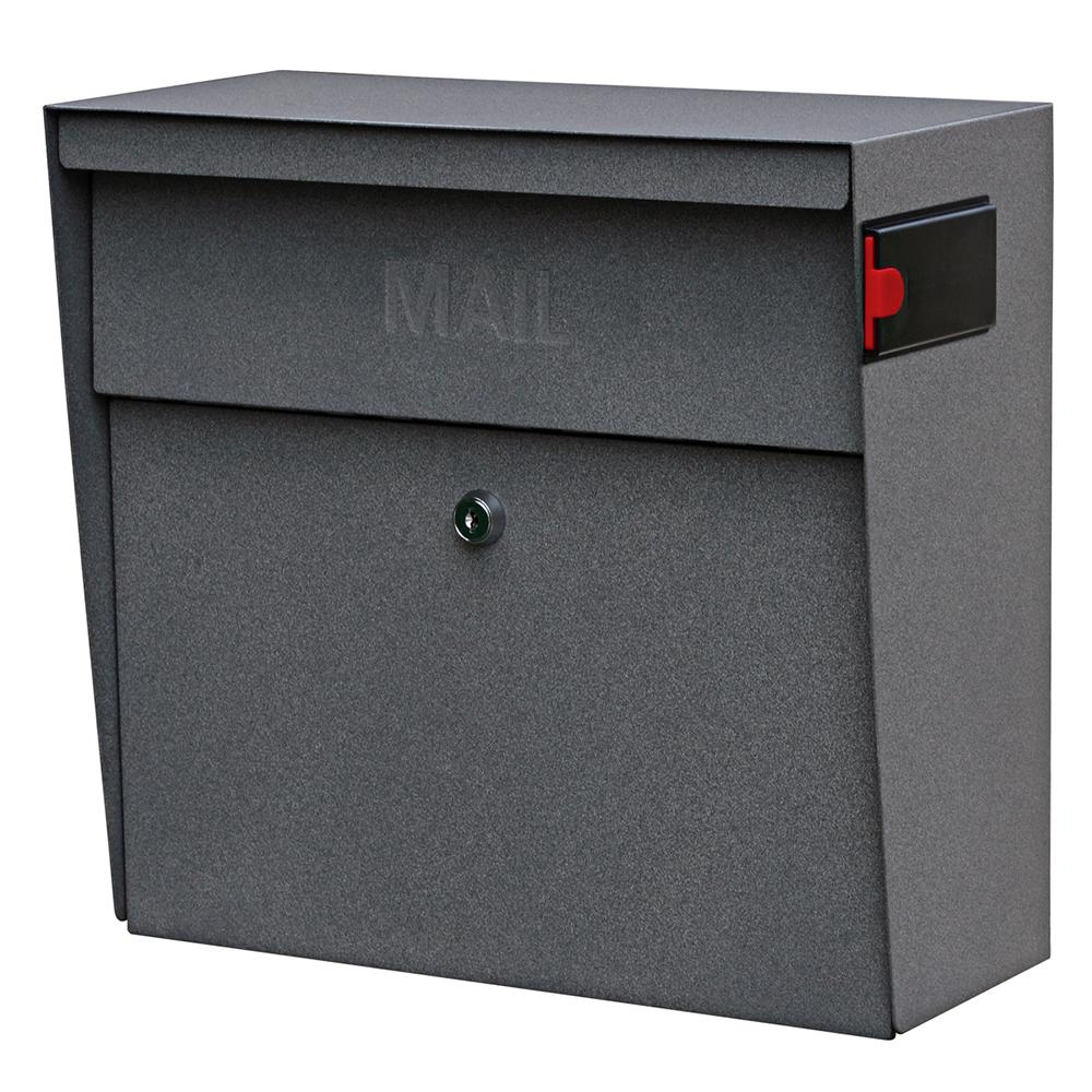 Mail Boss Metro Locking Wall Mount Mailbox With High