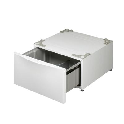 27 in. Laundry Pedestal with Storage Drawers for Washers and Dryers in White