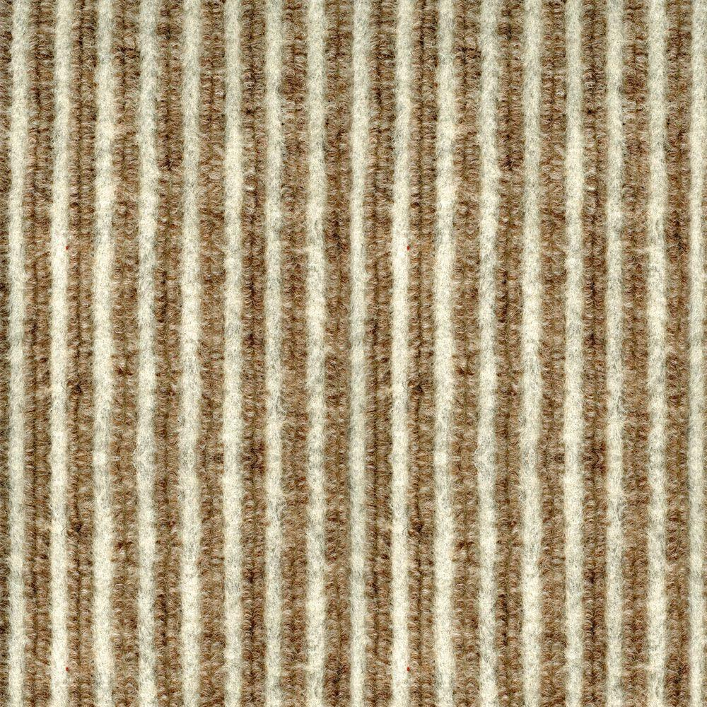TrafficMASTER Corduroy Bark/Cream 18 in x 18 in Carpet Tile, 16 Tiles-DISCONTINUED