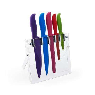 6-Piece Resin Knife Set with Clear Backing