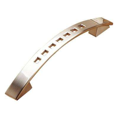5-1/16 in. (128 mm) Center-to-Center Brushed Nickel Contemporary Drawer Pull