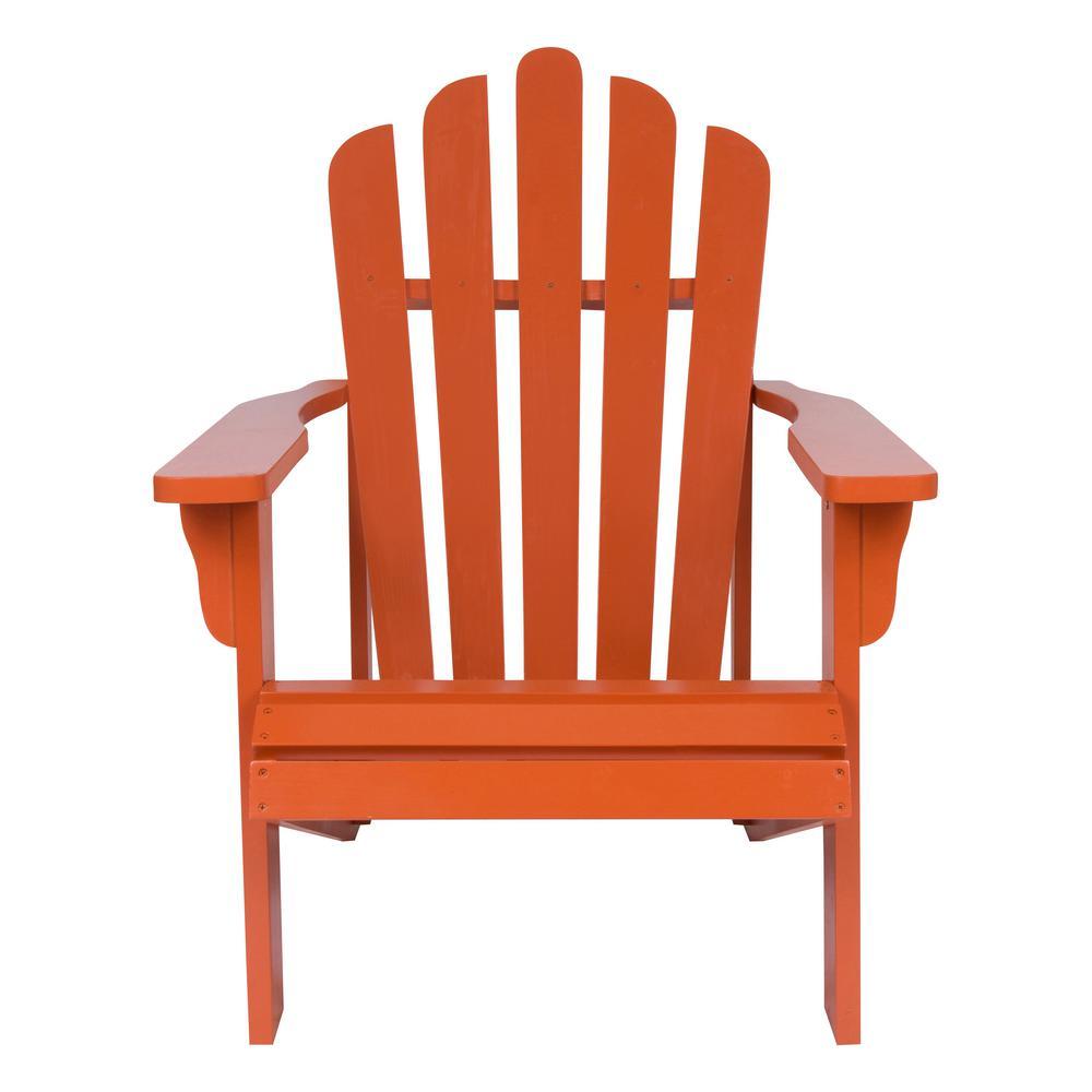 Westport Cedar Wood Adirondack Chair - Rust